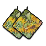Caroline's Treasures Sunflowers Potholder (Set of 2)