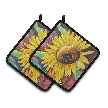 Caroline's Treasures Sunflowers Potholder (Set of 2)