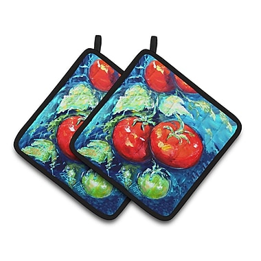 Caroline's Treasures Vegetables Tomatoes on the Vine Potholder (Set of 2)