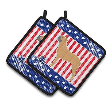 Caroline's Treasures Patriotic USA Bullmastiff Potholder (Set of 2)