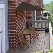 Blue Star Group Terrace Mates Villa Deluxe 5 Piece Dining Set; Chocolate Olefin