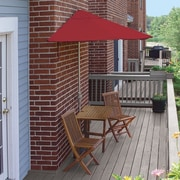 Blue Star Group Terrace Mates Villa Economy 5 Piece Dining Set; Red Olefin