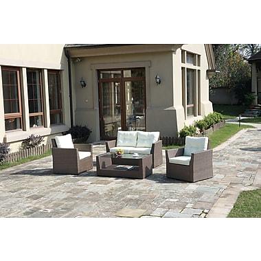 Poundex Lizkona Aidan 4 Piece Seating Group w/ Cushion