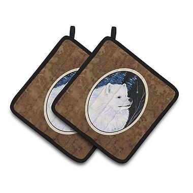 Caroline's Treasures Starry Night Samoyed Potholder (Set of 2)