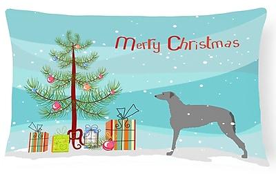 The Holiday Aisle Scottish Deerhound Indoor/Outdoor Lumbar Pillow