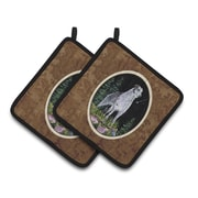 Caroline's Treasures Starry Night Scottish Deerhound Potholder (Set of 2)