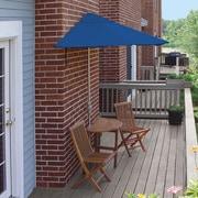 Blue Star Group Terrace Mates Bistro Economy 5 Piece Dining Set; Blue Olefin