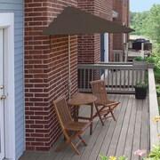 Blue Star Group Terrace Mates Bistro Economy 5 Piece Dining Set; Chocolate Olefin