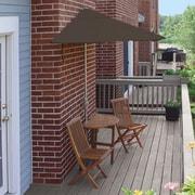 Blue Star Group Terrace Mates Bistro Premium 5 Piece Dining Set; Chocolate Sunbrella