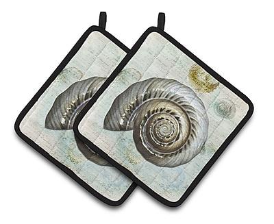 Caroline's Treasures Shells Potholder (Set of 2)