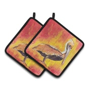 Caroline's Treasures Pelican Potholder (Set of 2)