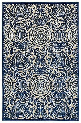 Charlton Home Covedale Machine Woven Blue Indoor/Outdoor Area Rug; Runner 2'6'' x 7'10''