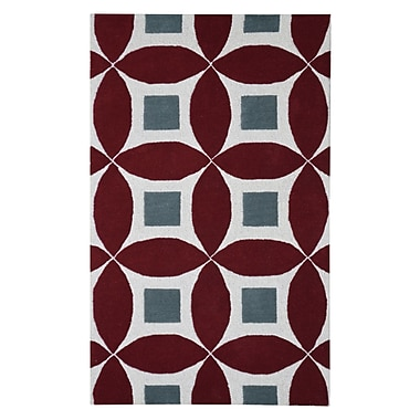 Eastern Weavers Henley Hand-Tufted Burgundy/Gray Area Rug; 3' x 5'