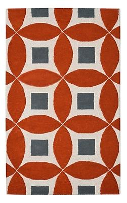 Eastern Weavers Henley Hand-Tufted Orange/Gray Area Rug; Rectangle 3' x 5'