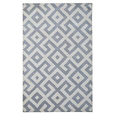 Eastern Weavers Modern Marvel Hand-Tufted Devin Dark Gray/Ivory Area Rug; 4' x 6'