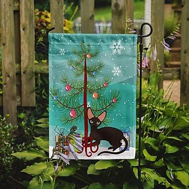 Caroline's Treasures Peterbald Cat Merry Christmas Tree 2-Sided Garden Flag