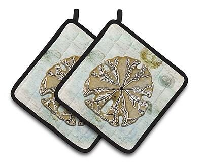 Caroline's Treasures Sand Dollar Potholder (Set of 2)