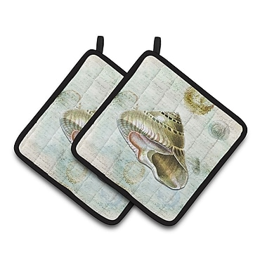 Caroline's Treasures Shells Potholder (Set of 2)