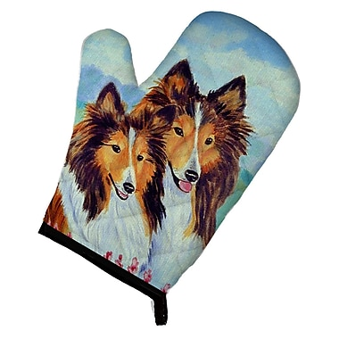 Caroline's Treasures Sable Sheltie Double Trouble Oven Mitt
