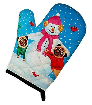 Caroline's Treasures Snowman w/ Pug Winter Oven Mitt