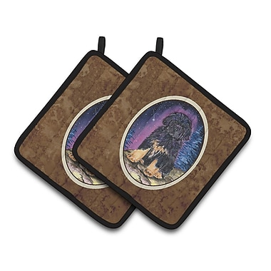 Caroline's Treasures Starry Night Tibetan Mastiff Potholder (Set of 2)