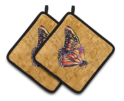 East Urban Home Butterfly Brown Potholder (Set of 2)