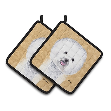 East Urban Home Bichon Frise Wipe your Paws Potholder (Set of 2)