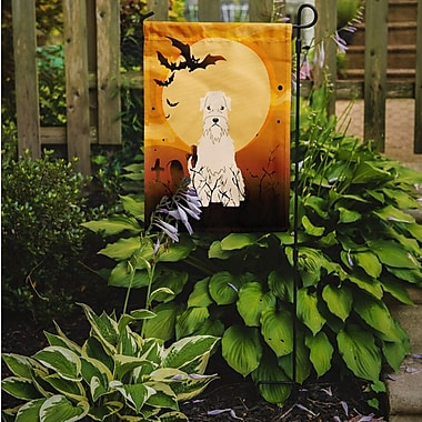 Caroline's Treasures Halloween Soft Coated Wheaten Terrier 2-Sided Garden Flag