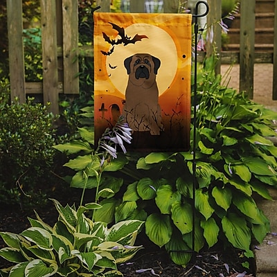 Caroline's Treasures Halloween Bullmastiff 2-Sided Garden Flag