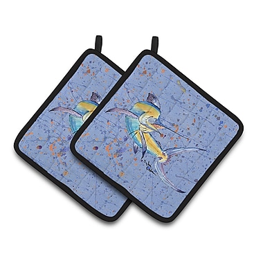 Caroline's Treasures Marlin Potholder (Set of 2)