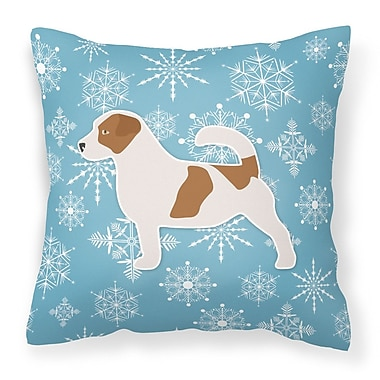 Caroline's Treasures Winter Snowflakes Indoor/Outdoor Throw Pillow; 18'' H x 18'' W x 3'' D