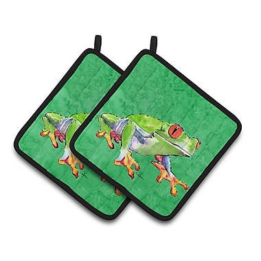Caroline's Treasures Frog Potholder (Set of 2)