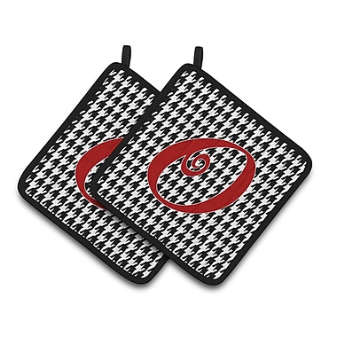 Caroline's Treasures Houndstooth Potholder (Set of 2); O