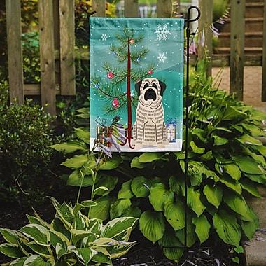 Caroline's Treasures Merry Christmas Tree Mastiff Brindle 2-Sided Garden Flag; White