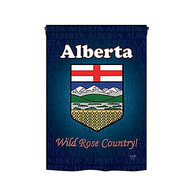 TwoGroupFlagCo Alberta 2-Sided Vertical Flag; 18.5'' H x 13'' W