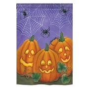 TwoGroupFlagCo 3 Pumpkins 2-Sided Vertical Flag; 18.5'' H x 13'' W