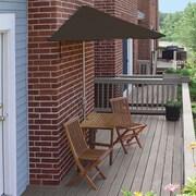 Blue Star Group Terrace Mates Villa Premium 5 Piece Dining Set; Chocolate Sunbrella