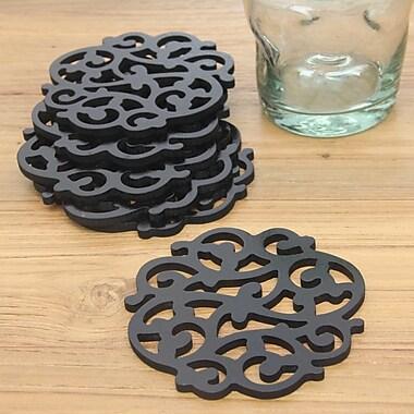 Novica Fern Motif Wood Coaster (Set of 6)