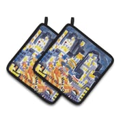 Caroline's Treasures Skyline Abstract Potholder (Set of 2)
