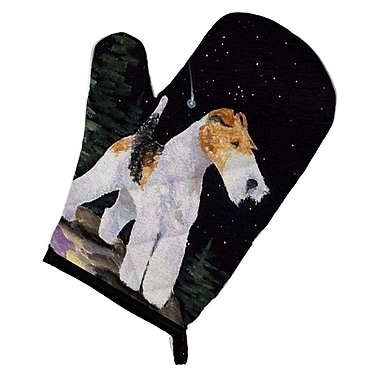 Caroline's Treasures Starry Night Fox Terrier Oven Mitt