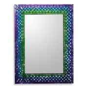Novica Unique Artisan Crafted Glass Mosaic Tile Wall Mirror