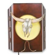 Novica Old West Rustic Cattle Theme 1-Light Flush Mount