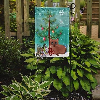 Caroline's Treasures Tonkinese Cat Merry Christmas Tree 2-Sided Garden Flag