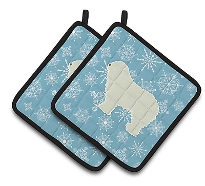 Caroline's Treasures Winter Snowflakes Komondor Potholder (Set of 2) WYF078279732445