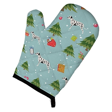 Caroline's Treasures Christmas Dalmatian Oven Mitt
