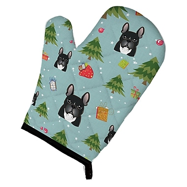 Caroline's Treasures Christmas French Bulldog Oven Mitt