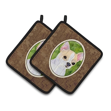 East Urban Home Chihuahua Brown/White Potholder (Set of 2)