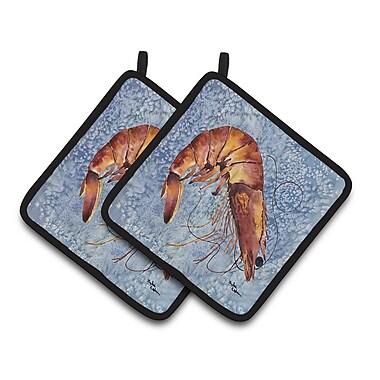 Caroline's Treasures Cooked Shrimp Cool Water Potholder (Set of 2)