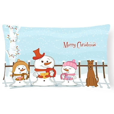 Caroline's Treasures Merry Christmas Indoor/Outdoor Lumbar Pillow