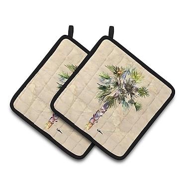 Caroline's Treasures Palm Tree Potholder (Set of 2)